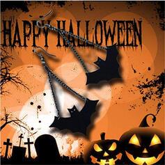 Schläger Geformte Das Halloween Legierung PU Ohrringe 2 STÜCK