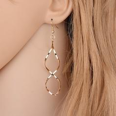 Einfache Legierung Damen Ohrringe