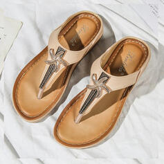 Frauen Microfaser-Leder Flascher Absatz Sandalen Flache Schuhe Peep Toe Flip Flops Pantoffel mit Perlstickerei Schuhe