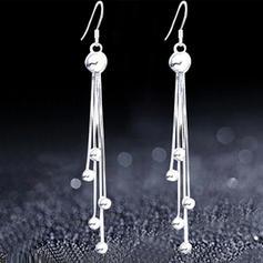 Einzigartig Silber Kupfer Damen Art-Ohrringe