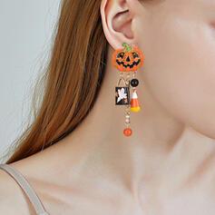 Das Halloween Kürbis Legierung mit Quasten Ohrringe 2 STÜCK