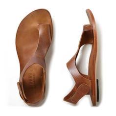 PU Flascher Absatz Sandalen Flache Schuhe Peep Toe Flip Flops mit Andere Schuhe