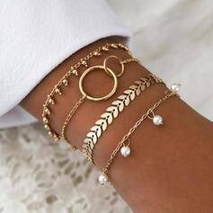 heißeste Legierung mit Nachahmungen von Perlen Schmuck Sets Armbänder Strandschmuck (4 Stück)