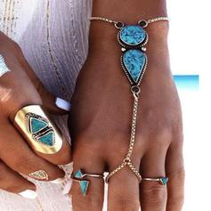 Exotisch Legierung mit Juwel Frauen Strandschmuck