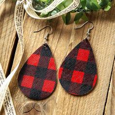 Tropfenform Weihnachten PU Frauen Ohrringe 2 STÜCK