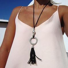 Modisch Legierung mit Quasten Frauen Mode-Halskette