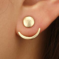 Einfache Legierung Ohrringe (Set von 2)