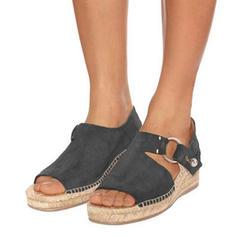 PU Keil Absatz Sandalen Keile Peep Toe Heels mit Andere Schuhe
