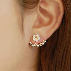 Schöne Legierung mit Strass Damen Ohrringe