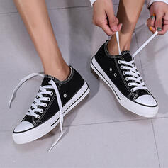 Frauen Stoff Flascher Absatz Flache Schuhe Low Top Round Toe Espadrille mit Zuschnüren Schuhe