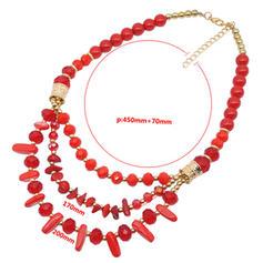 Schöne Modisch Einfache Naturstein Legierung Frauen Halsketten