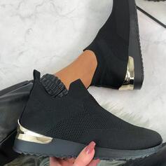 Frauen Fliegende Webart Flascher Absatz Flache Schuhe Tanzschuhe mit Hohl-out Schuhe
