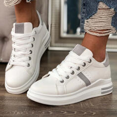 Frauen PU Flascher Absatz Flache Schuhe Round Toe Tanzschuhe mit Zuschnüren Schuhe