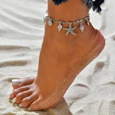Seestern heißeste Shell Shaped Legierung Strandschmuck Fußkettchen