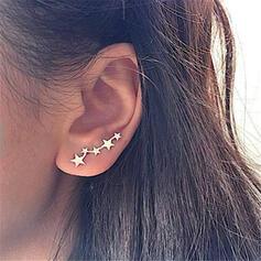 Einfache Stern Legierung Ohrringe 2 STÜCK