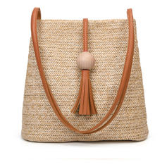 Elegant/Geflochten Stroh Umhängetaschen/Schultertaschen/Strandtaschen/Beuteltaschen