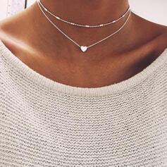 Schön Modisch Sexy Herz Valentinstag Legierung Frauen Mädchens Halsketten Strandschmuck