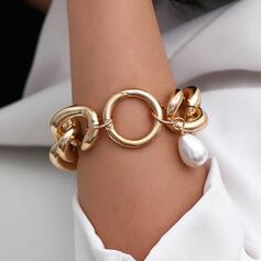 Modisch Sexy Jahrgang Klassische Art Legierung mit Nachahmungen von Perlen Frauen Damen Armbänder 1 PC