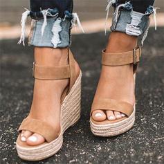 Veloursleder Keil Absatz Sandalen Keile Peep Toe Heels mit Andere Schuhe