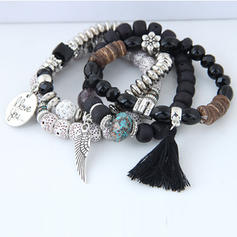 Flügel Geformt Legierung Perlen Unisex Mode Armbänder (Satz 4)