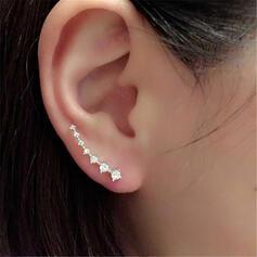Glänzende Einfache Legierung Strasssteine mit Strasssteine Ohrringe 1 PC