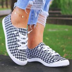 Frauen Stoff Flascher Absatz Round Toe Espadrille Schlüpfen mit Zuschnüren Schuhe