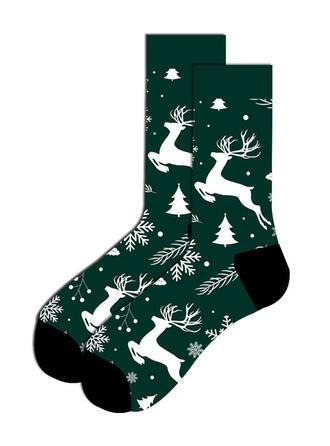 Druck/Weihnachten Rentier Komfortabel/Weihnachten/Crew Socks/Unisex Socken