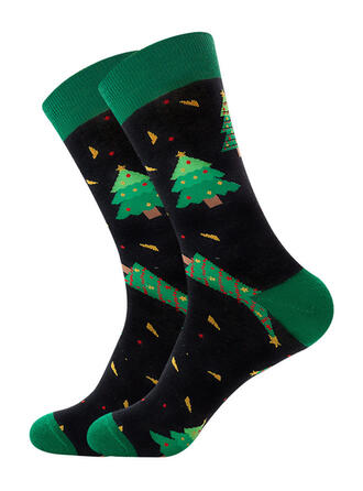 Druck Atmungsaktiv/Weihnachten/Crew Socks/Unisex Socken