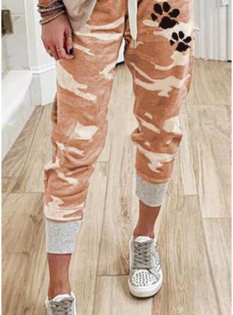 Tierdruckmuster Tarnen Kordelzug Lässige Kleidung Sportlich Hosen Lounge Pants
