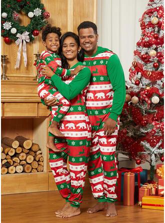 Rentier Bär Drucken Passende Familie Christmas Pajamas