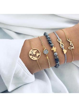 Stilvoll Legierung Flechtschnur Perlen Frauen Mode Armbänder (Satz 5)