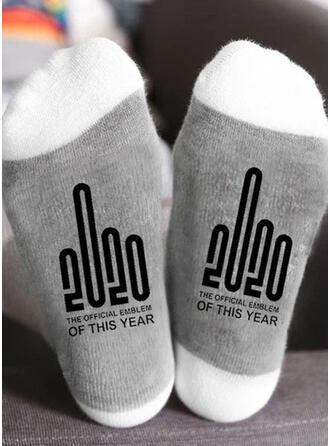 Buchstaben/Druck Atmungsaktiv/Weihnachten/Crew Socks/2020/Unisex Socken