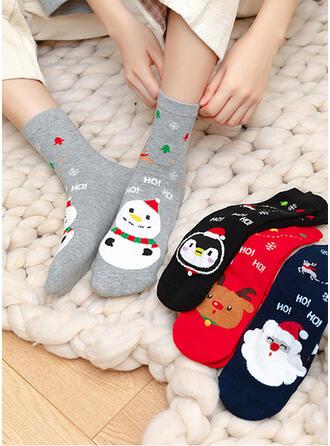 Druck Entwickelt Tier/Weihnachten/Crew Socks/Unisex Socken (Satz 4 Paare)