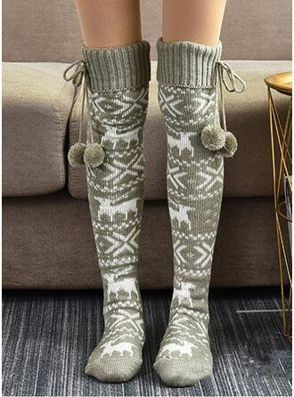 Druck/Weihnachten Rentier Warmen/Damen/Weihnachten/Knee-High Socks Socken/Strümpfe Socken