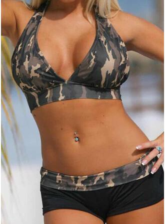 Neckholder V-Ausschnitt Sport Lässige Kleidung Bikinis Bademode