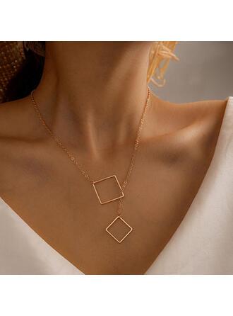 Einfache Legierung Frauen Halsketten