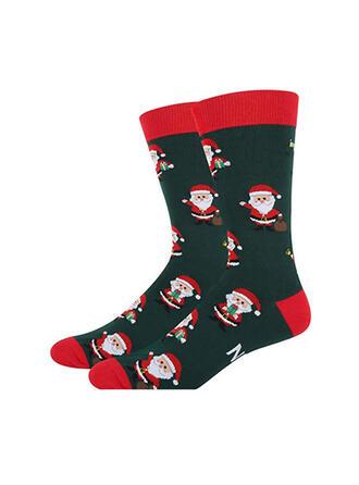 Druck/Weihnachten Sankt Komfortabel/Weihnachten/Crew Socks/Unisex Socken