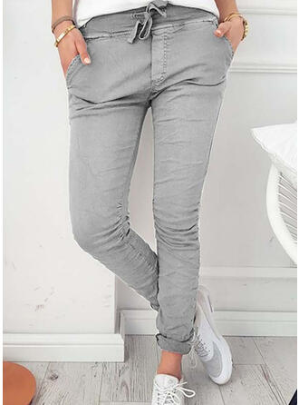 Taschen Shirred Elegant Sexy Dünn Hosen
