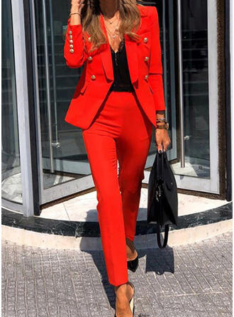 Einfarbig Elegant Jahrgang Anzüge