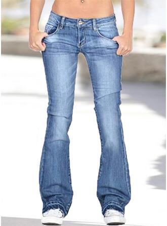 Taschen Übergröße Lässige Kleidung Denim Jeans