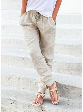 Einfarbig Übergröße Lässige Kleidung Lange Einfarbig Lounge Pants