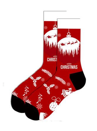 Druck/Weihnachten Sankt Atmungsaktiv/Weihnachten/Crew Socks/Unisex Socken