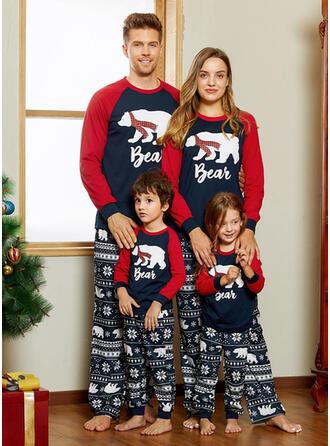 Bär Schreiben Drucken Passende Familie Christmas Pajamas