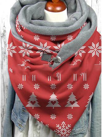 Geometrische drucken/Weihnachten mode/Weihnachten Schal