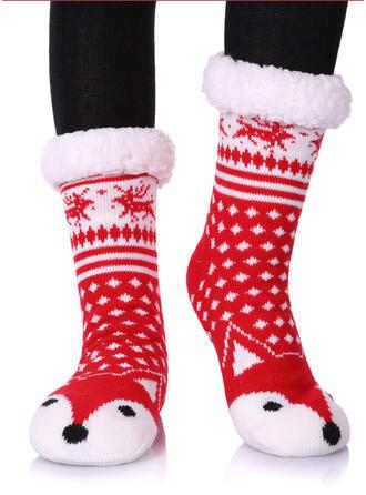 Druck/Tierdruck Warmen/Weihnachten/Crew Socks/Non Slip/Unisex Socken