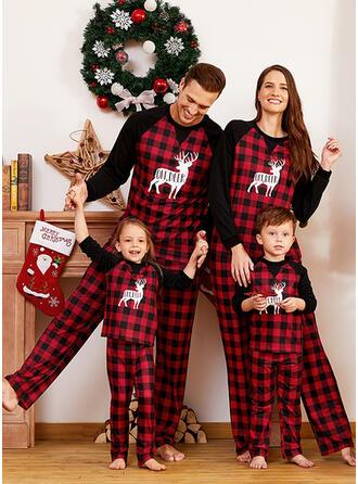 Rentier Karierte Schreiben Drucken Passende Familie Christmas Pajamas