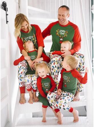 Hirsch Schreiben Karikatur Passende Familie Christmas Pajamas