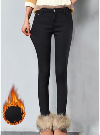 Einfarbig Übergröße Elegant Sexy Hosen