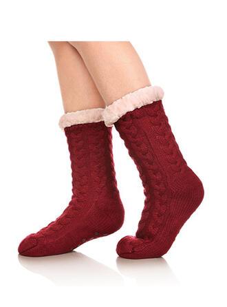 Einfarbig/Häkeln Warmen/Weihnachten/Crew Socks/Non Slip/Unisex Socken