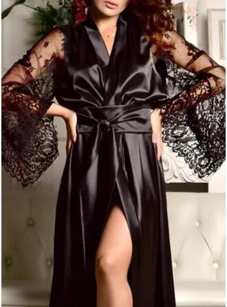Polyester Spitze Einfarbig Kleid